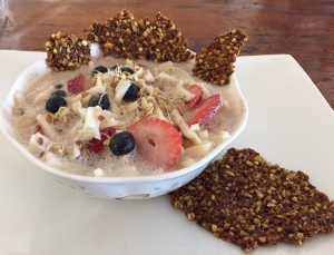 Sprouted oats and groats granola