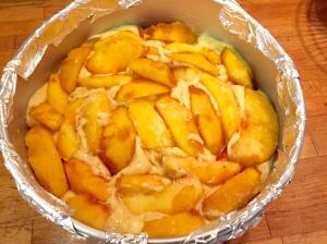 Peach cake raw