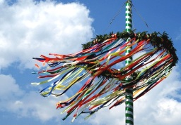 Dancing into May around the May Pole