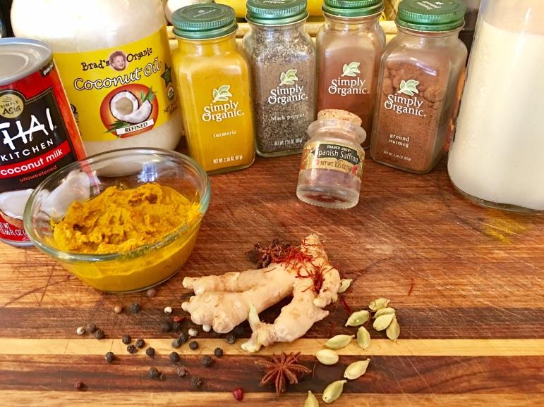Golden Milk ingredients